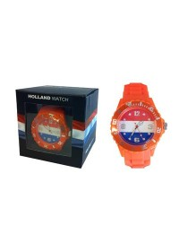 Holland Watch - Horloge - Kunststof - Oranje - Small
