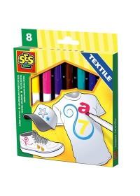 SES Textielstiften Maxi - 8 Kleuren