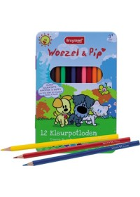 Bruynzeel Woezel & Pip blik 12 kleurpotloden