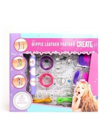 Create It! Armbandenset Xl Hippie Leather Feather