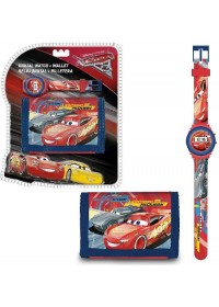 Cars 3 Horloge + Portemonnee