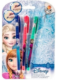 Frozen Gelpennen uitwisbaar 3st.