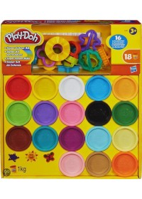 Play-Doh Super Color Kit - 18 potjes en 16 accessoires – Klei