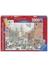 Ravensburger Amsterdam in de sneeuw - Fleroux - 1000 stukjes