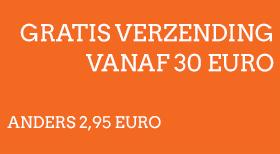 Gratis verzending vanaf 30 euro