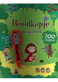 Stickerboek Roodkapje+potlood+gum.