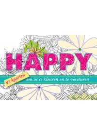 Happy, 45 kaarten om in te kleuren en te versturen